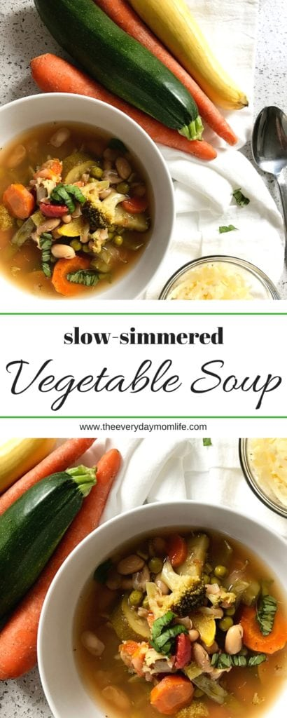Vegetable soup recipe - The Everyday Mom Life