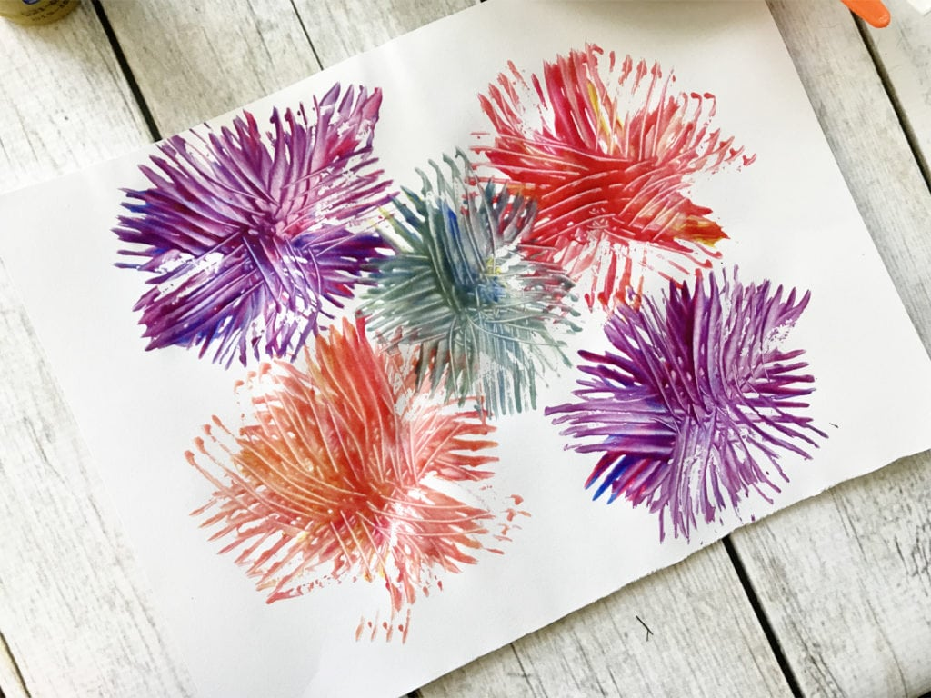 Fork Fireworks Craft for the Fourth of July - The Everyday Mom Life