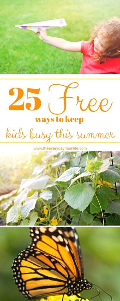 The Everyday Mom Life - 25 Free Ways To Keep Your Kids Busy This Summer