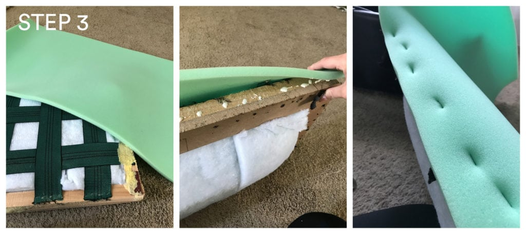 no sew storage ottoman upcycle - The Everyday Mom Life