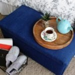 No-Sew Storage Ottoman Upcycle
