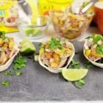 Roasted Peach Salsa & Carnitas Taco Boats Are Perfect Football Season Snacks