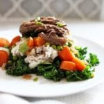 Slow Cooker Beef Pot Roast With Smashed Potatoes & Kale